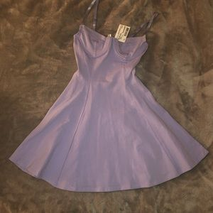 American Apparel Lavender Skater Dress